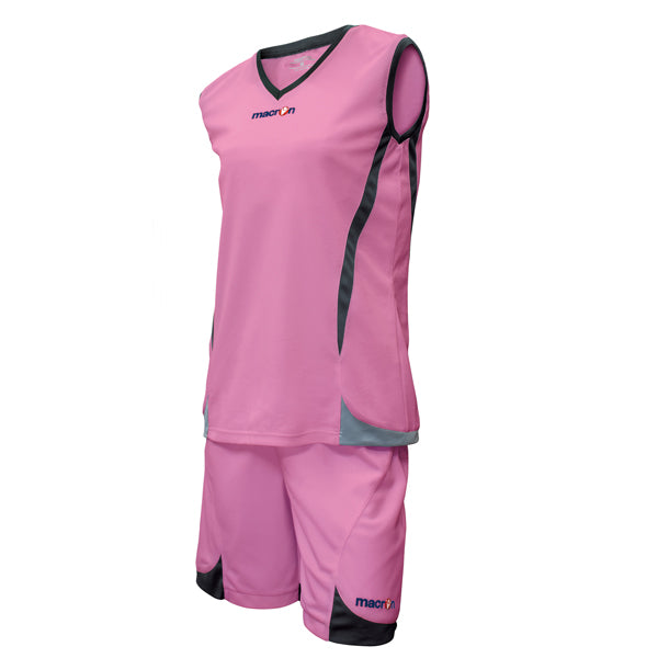 Macron Raja Basketball Kit Pink/Black