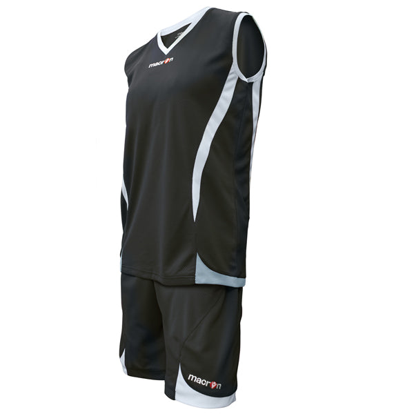 Macron Raja Basketball Kit Black/White