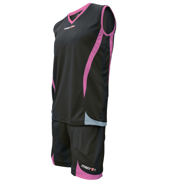 Macron Raja Basketball Kit Black/Pink