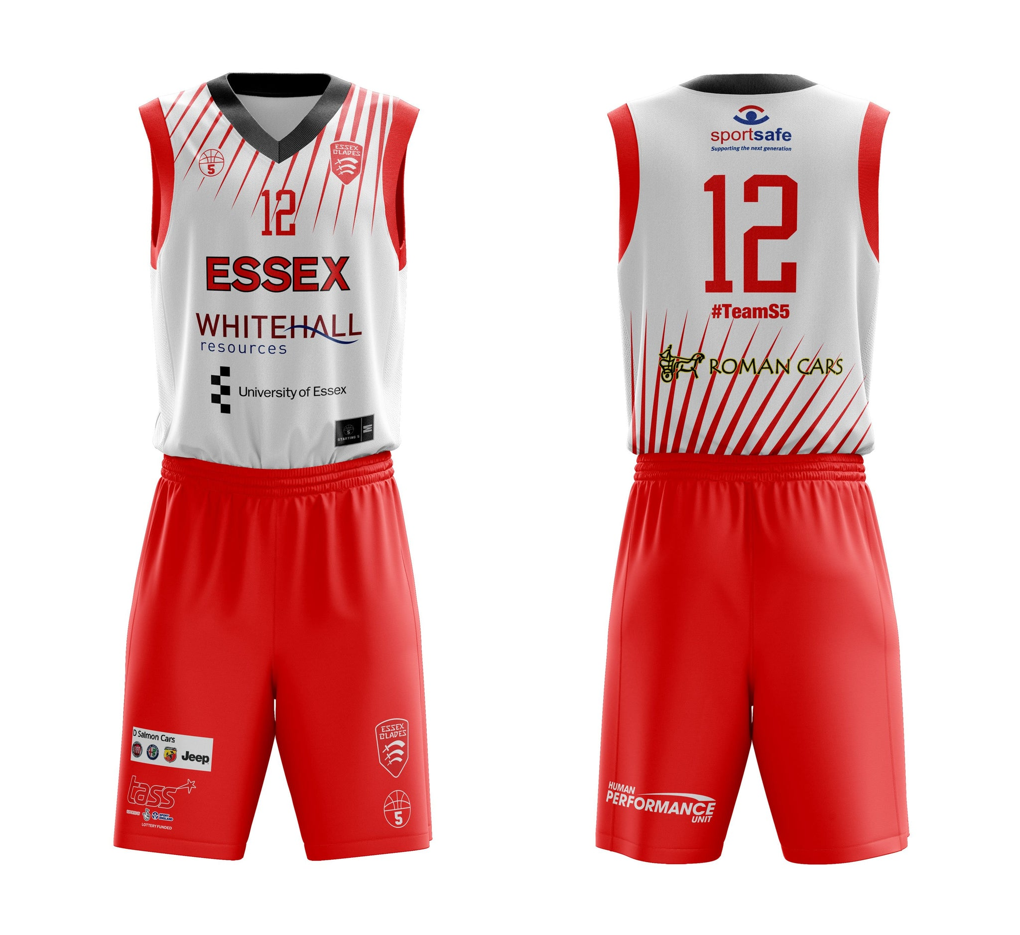 STARTING 5 Sublimated Basketball Kit Single-Sided Example 13