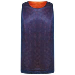 STARTING 5 Manhattan Lightweight Reversible Basketball Training Vest Orange/Navy