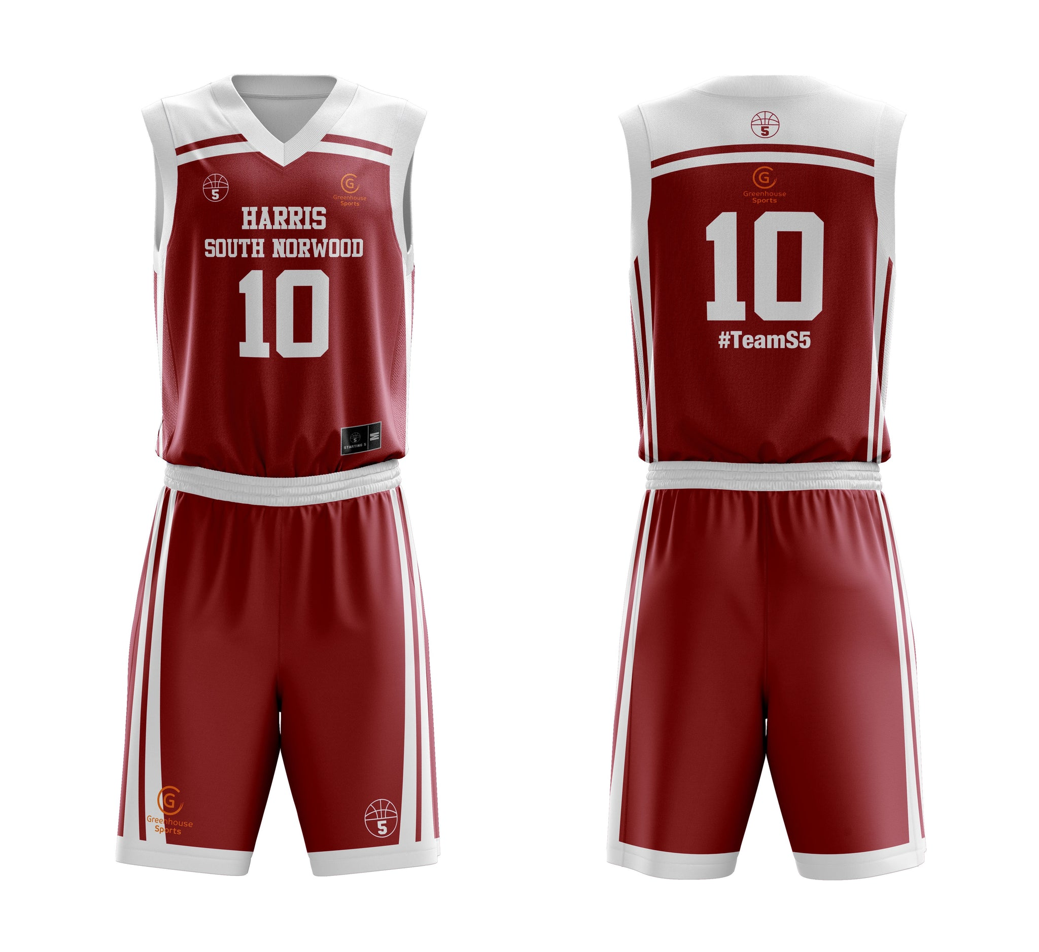 STARTING 5 Sublimated Basketball Kit Single-Sided Example 5