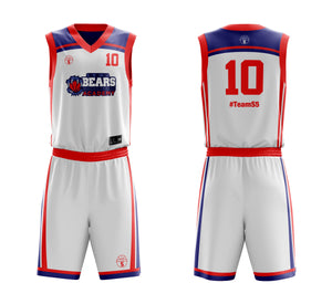 STARTING 5 Sublimated Custom Design Reversible Kit Example 5 - Basketball Uniforms - Vest & Shorts