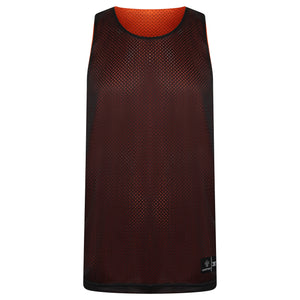 STARTING 5 Manhattan Lightweight Reversible Basketball Training Vest Orange/Black