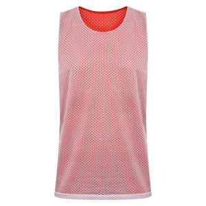 STARTING 5 Manhattan Lightweight Reversible Basketball Training Vest Red/White