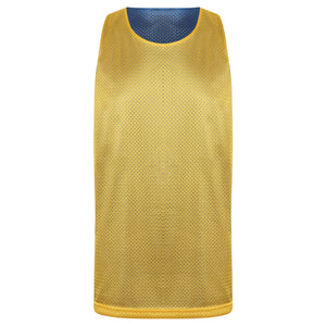 STARTING 5 Manhattan Lightweight reversible training vest Royal/Yellow