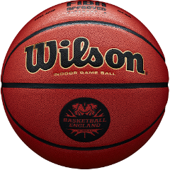 Package of 2 x Basketball England Wilson Solution Basketballs - Size 7