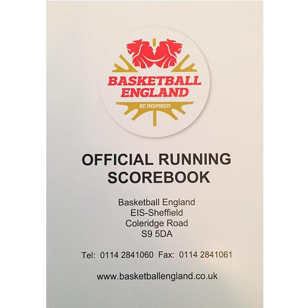 England Basketball Official Running Scorebook