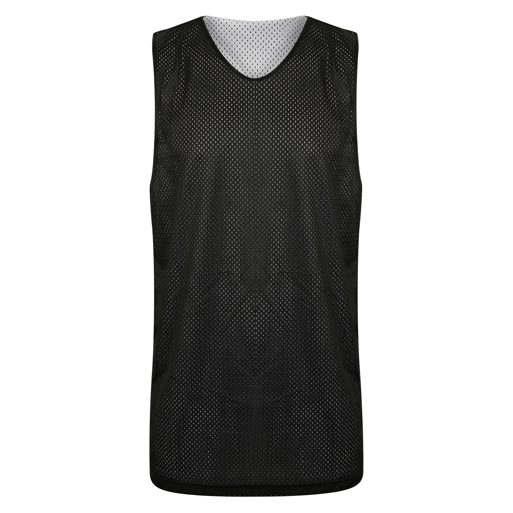 STARTING 5 Manhattan Lightweight Reversible Basketball Training Vest Black/White