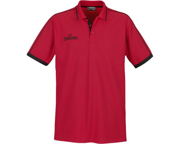Spalding Polo Shirt Red Black