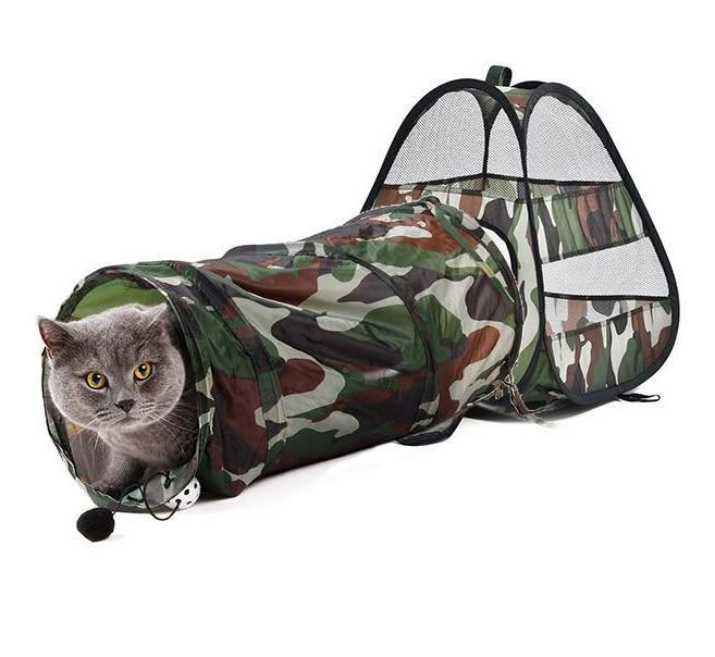 Cute Cat Camouflage Play Tunnel