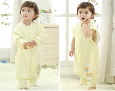 Baby Wearable Cotton Sleeping Bag with Detachable Sleeves