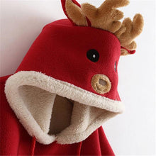 Load image into Gallery viewer, Cartoon Reindeer Pompon Embellished Cloak
