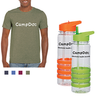 CampDoc Shirt + Water Bottle