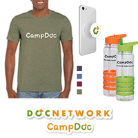 CampDoc Shirt + Water Bottle + Pop Socket + Sticker