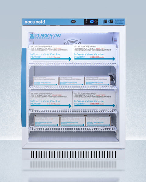 ACCUCOLD® 6 CU.FT. ADA HEIGHT VACCINE REFRIGERATOR (TEMPERATURE RANGE FROM 2 TO 8°C)