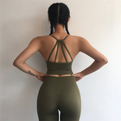 Olive Seamless Sports Bra