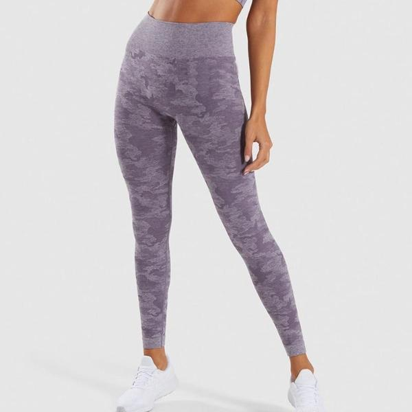 purple seamless camo leggings