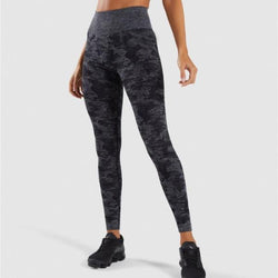 black seamless camo leggings