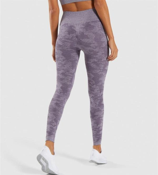 purple seamless camouflage bottoms