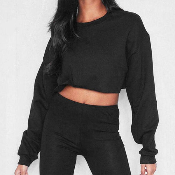 Crewneck Choppie Inn Crop Top Sports
