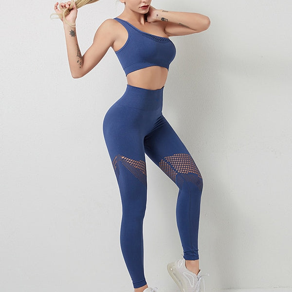 One Shoulder Athleisure Wear Matching Set