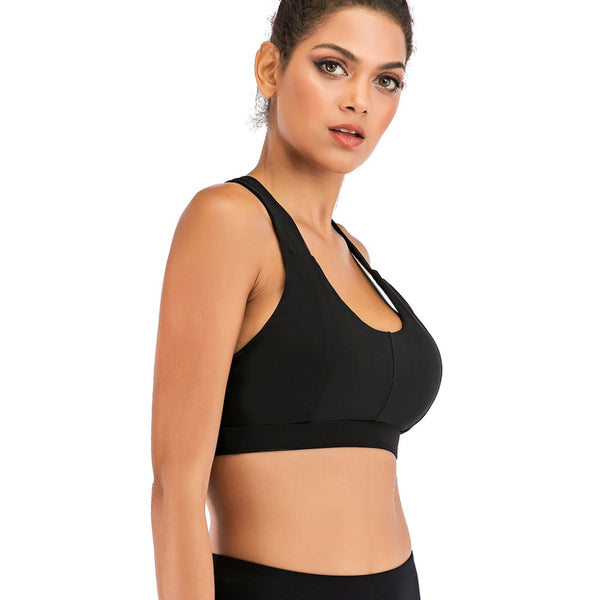 Scoopy Dip Flashy Back Sports Top