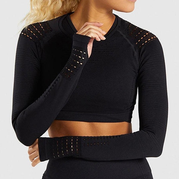 Tireless Stretch Long Sleeve Crop Top