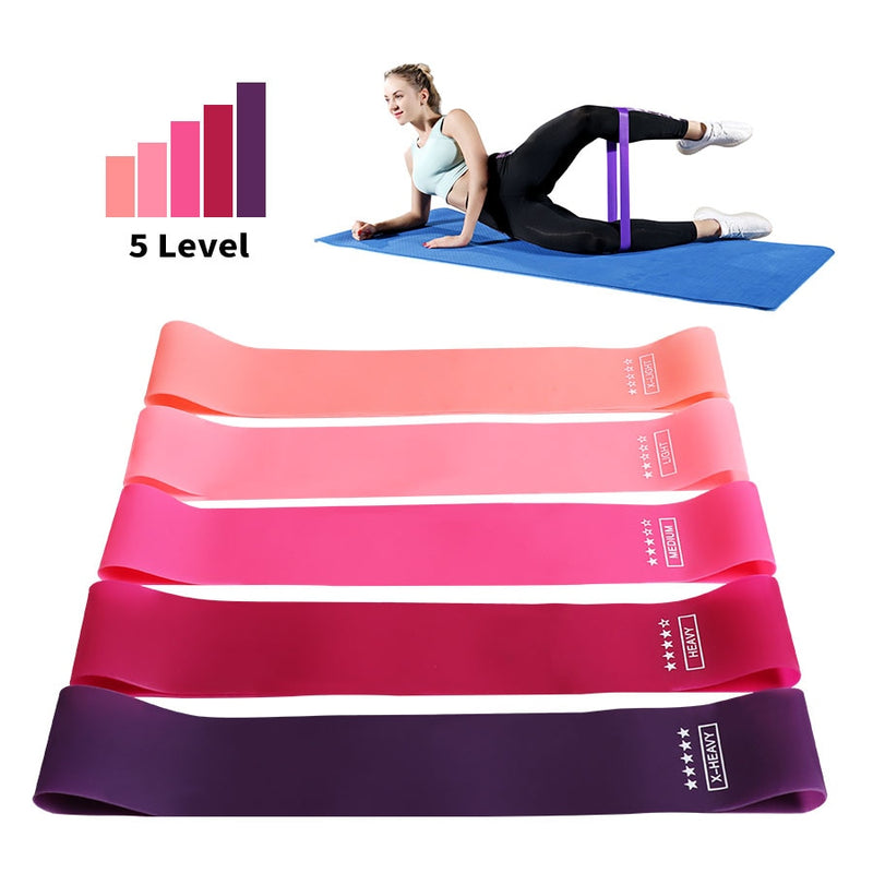 Gum Pilates CrossFit Athletic Band Strength Resistant Workout Equipment