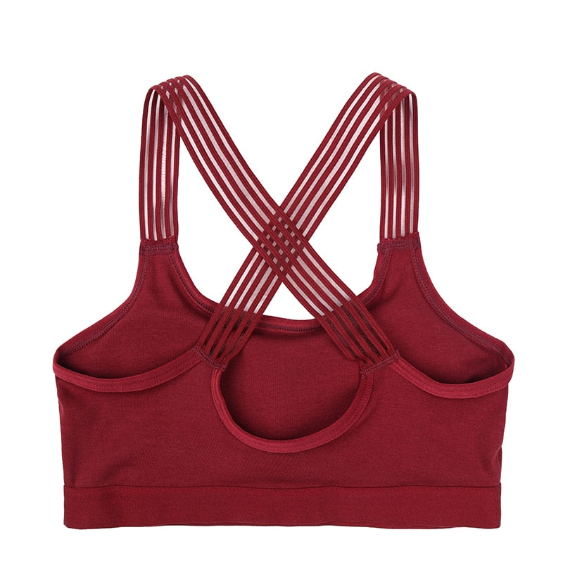 Criss-Cross Candescent Padded Sports Bra