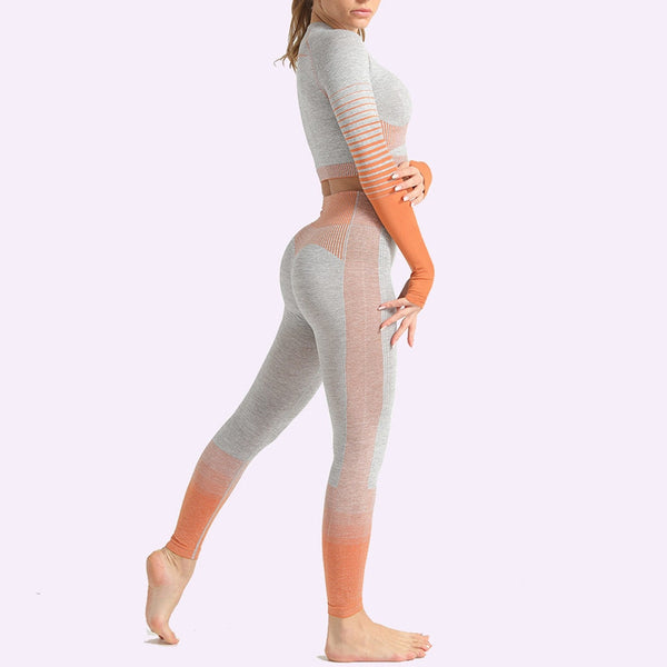 Gradient Seamless Yoga 2pcs Matching Set