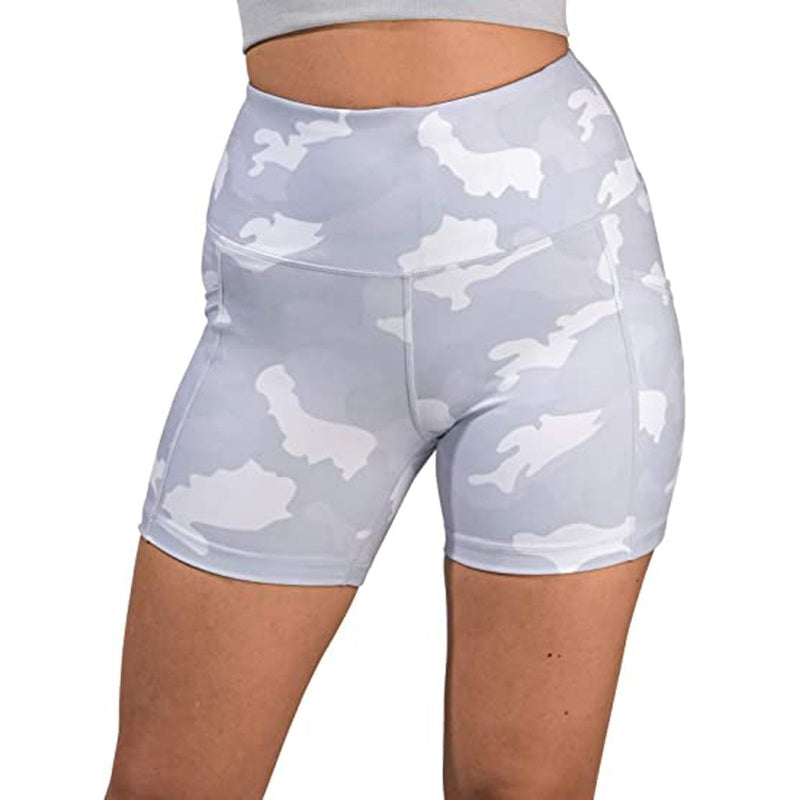 Compression Camo High Waist Seamless Yoga Shorts