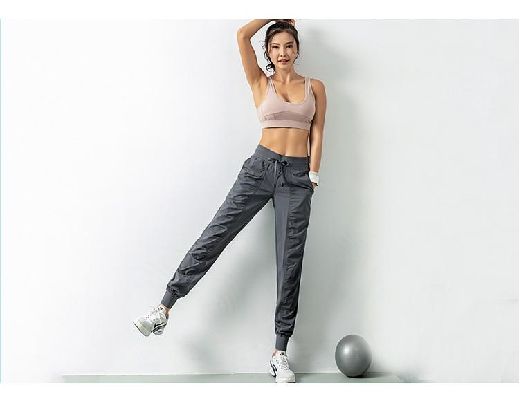 Proudy Gathers Athleisure Wear Trackpants