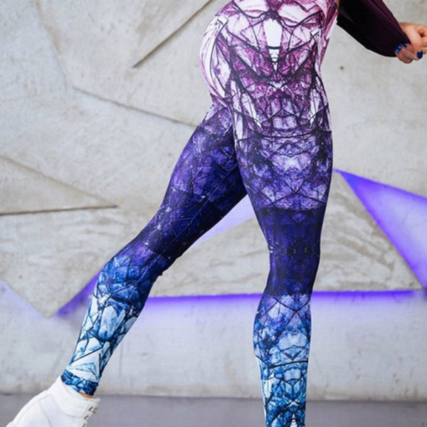 Digitally Fit Printed Leggings