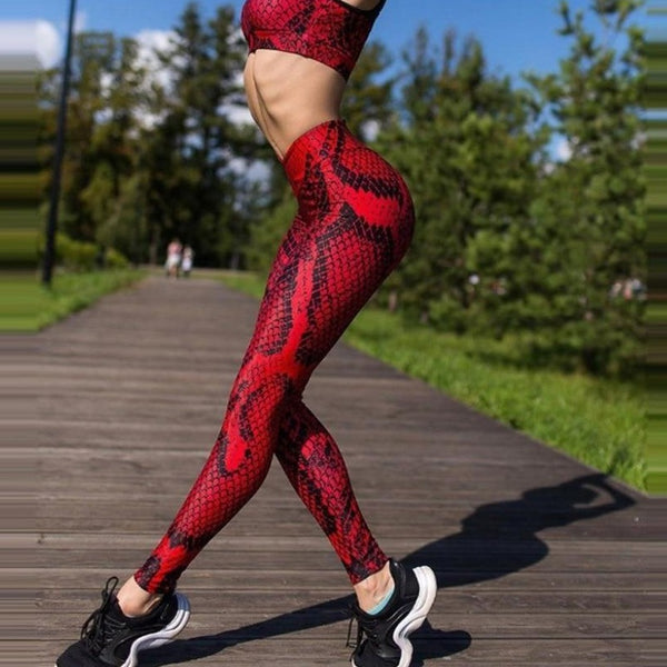Red Alert Seamless Athletic Leggings