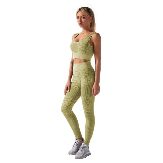 Snakie Femme 2pcs Yoga Matching Set