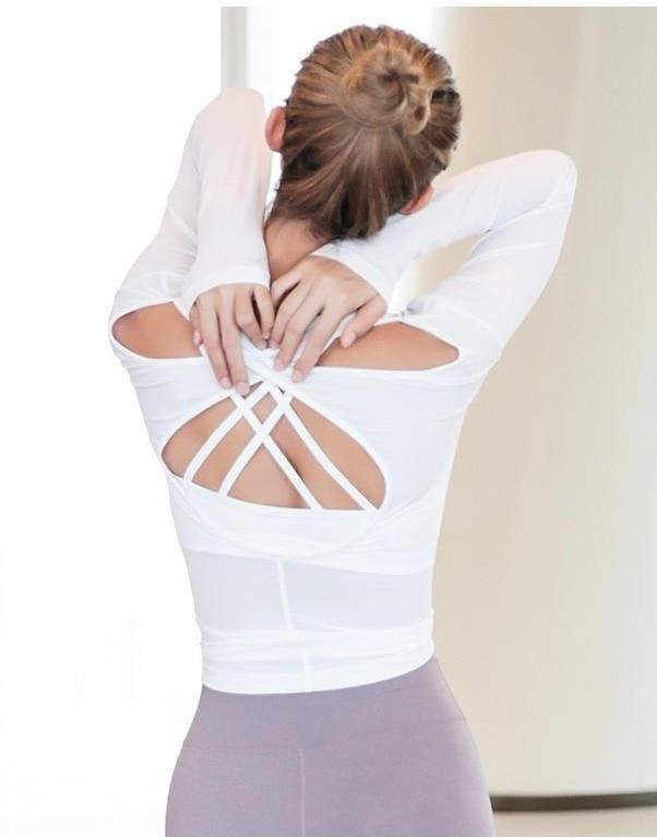 Open Back Long Sleeve Active Top