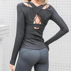 Stylish Open Back Design Sports Top