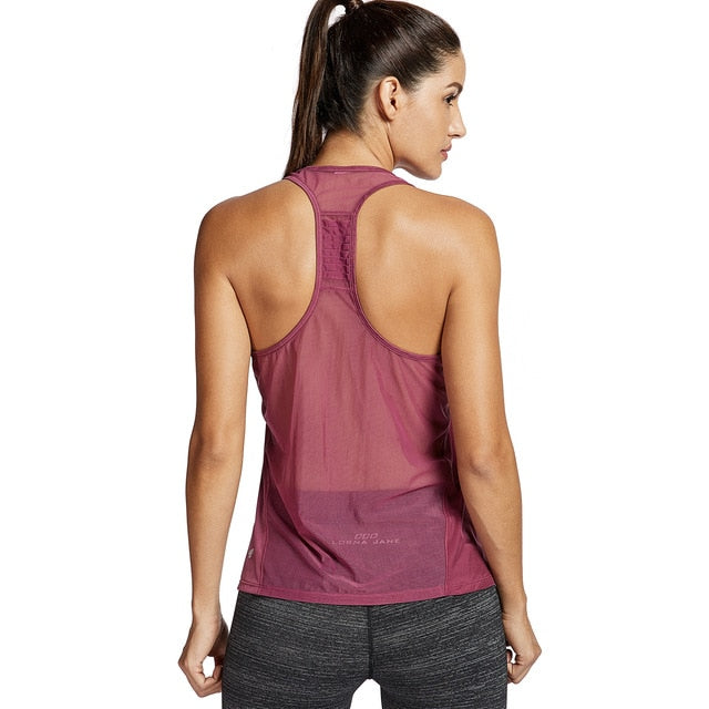 Red breathable gym top