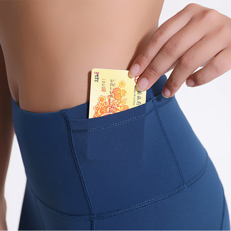 womens seamless legging with credit card pocket