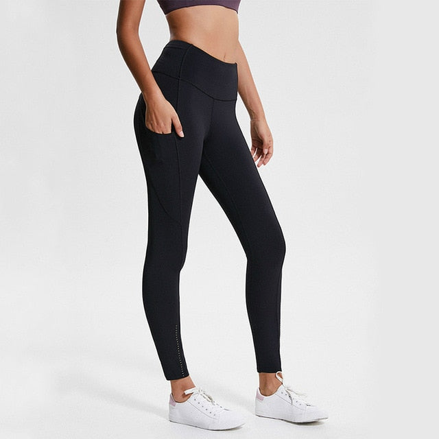 womens seamless legging with pocket