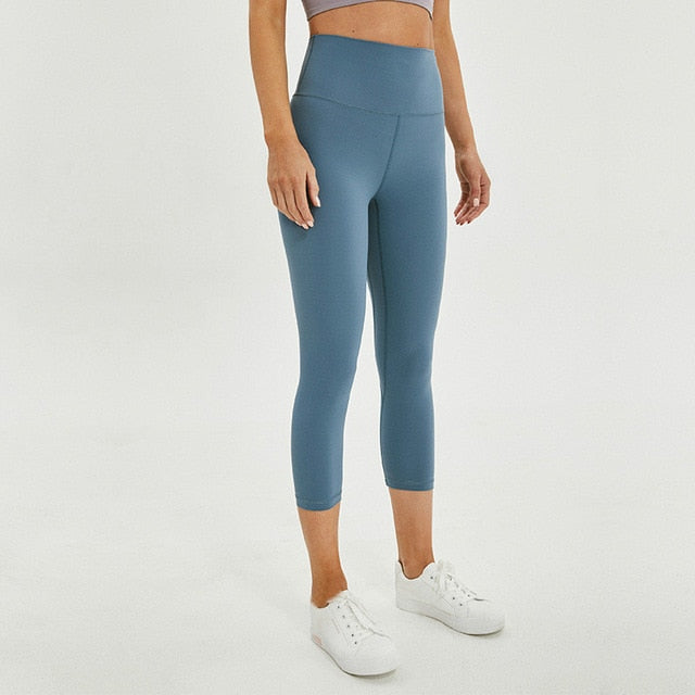 blue seamless legging