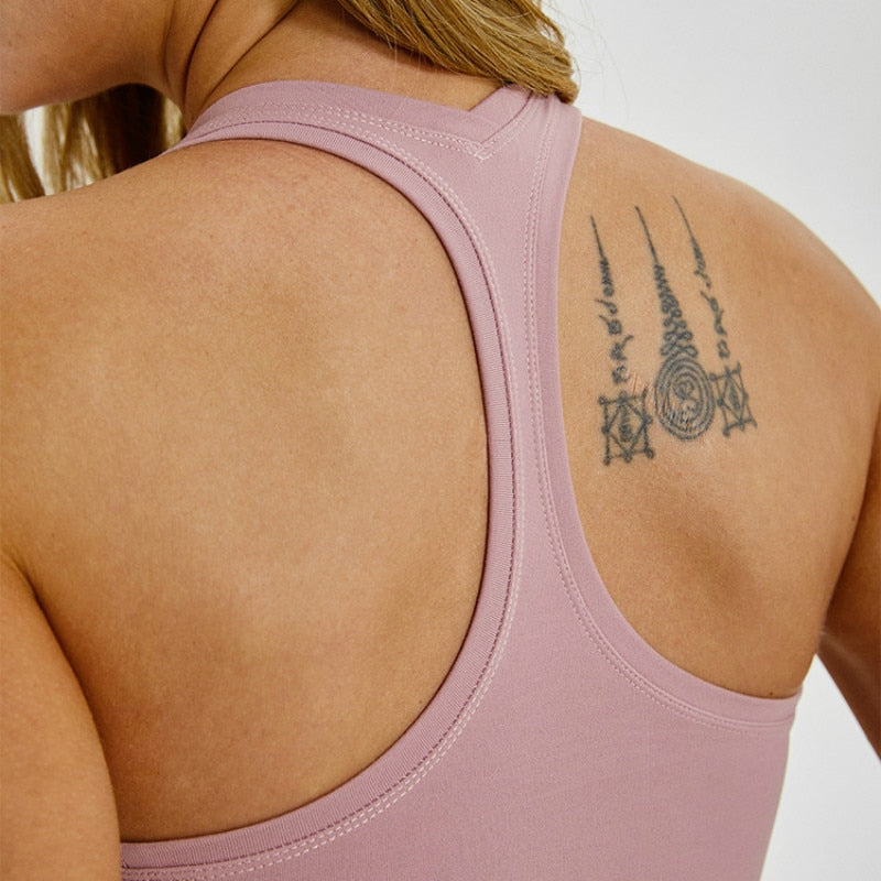 Racerback active tank top