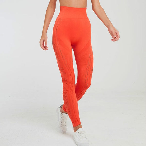 orange high waist legging