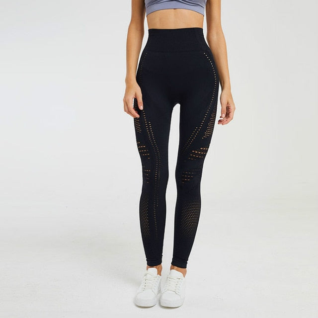 Black Seamless Gym Legging
