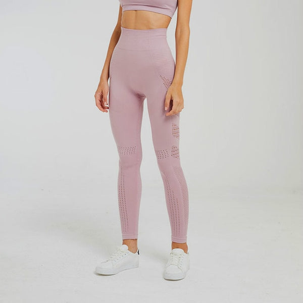 pink high waist gym legging