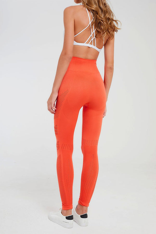 orange seamless high waist legging