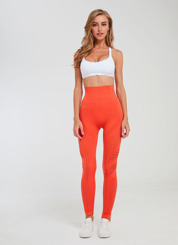 orange seamless activewear