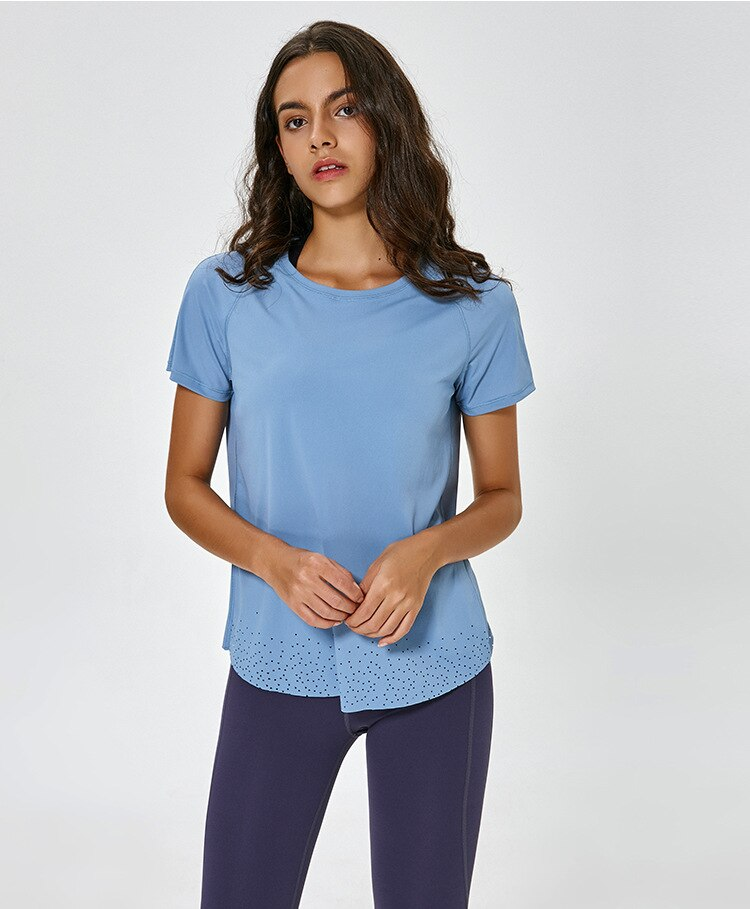 Essential Activewear Running Yoga Crop Top T-shirt