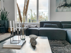 3 Ways to Style a Square Coffee Table with Scandinavian Modern Home Decor